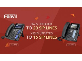 Обновление для IP-телефонов – Fanvil X5S и Fanvil X6!