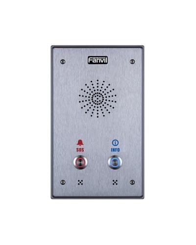 Fanvil i12-N-02P - Аудиоинтерком начального уровня с поддержкой SIP и PoE с двумя кнопками вызова