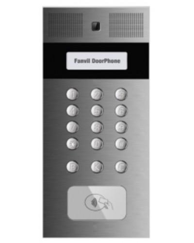 Fanvil i33V SIP домофон с камерой, громкоговорителем, клавиатурой и считывателем RFID карт