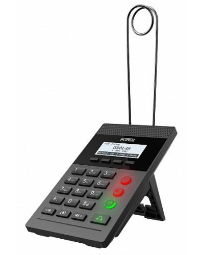 Fanvil X2CP без БП - IP-телефон для call-центра, ЧБ-дисплей, 2 аккаунта, LED подсветка кнопок, PoE