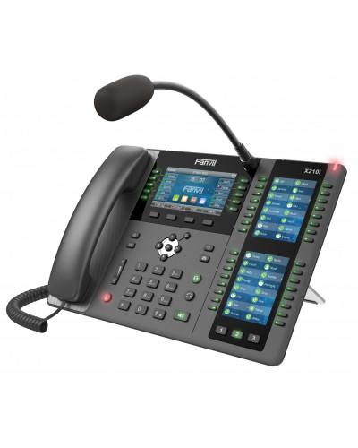 Fanvil X210i - IP-телефон, микрофон, 3 дисплея, 20 SIP линий, 116 DSS клавиш